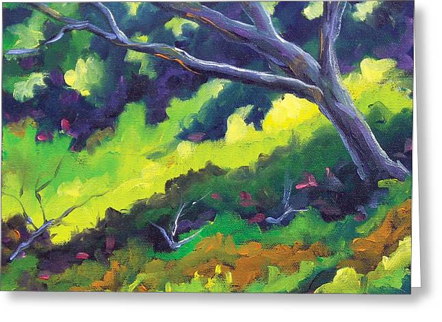 Nature Scene Paintings Greeting Cards - The Cool Shade Greeting Card by Richard T Pranke