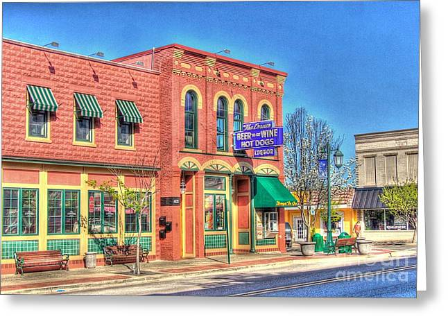 Rockford Greeting Cards - The Corner Bar Greeting Card by Robert Pearson
