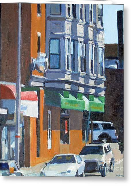 South Boston Greeting Cards Greeting Cards - The Corner Greeting Card by Deb Putnam
