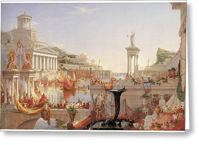 Thomas Cole Greeting Cards - The Course of Empire Greeting Card by Thomas Cole