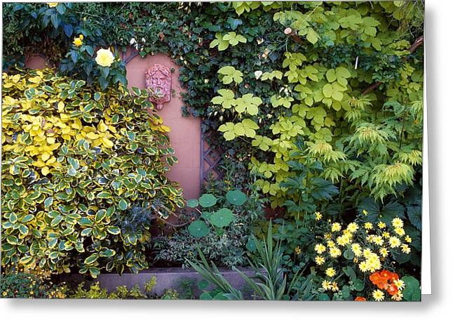 Statuary Garden Greeting Cards - The Courtyard Garden, Fairfield Lodge Greeting Card by The Irish Image Collection