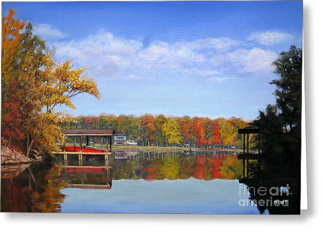 Lake Wylie Greeting Cards - The Cove Greeting Card by Shirley Braithwaite Hunt