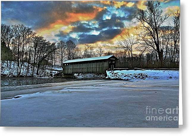 The covered bridge Greeting Card by Robert Pearson
