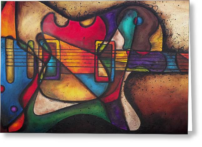 """six String"" Greeting Cards - The Crazy Eight Greeting Card by Darlene Keeffe"