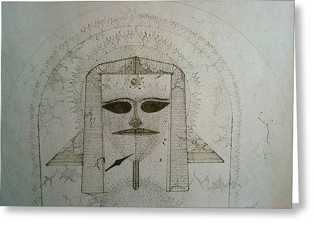 Pharaoh Drawings Greeting Cards - The Creation Greeting Card by Patrick Horn
