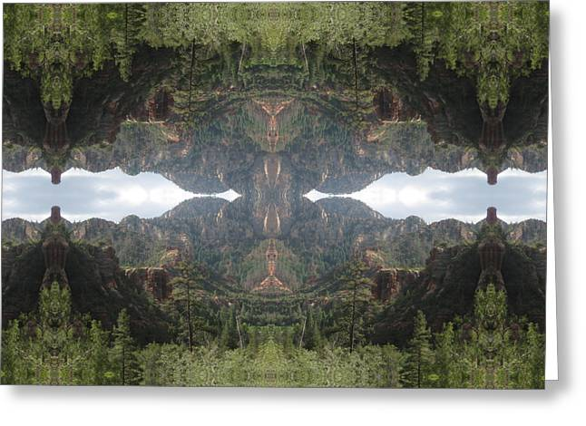 Surreal Landscape Greeting Cards - The Creator Within Greeting Card by Filip Klein