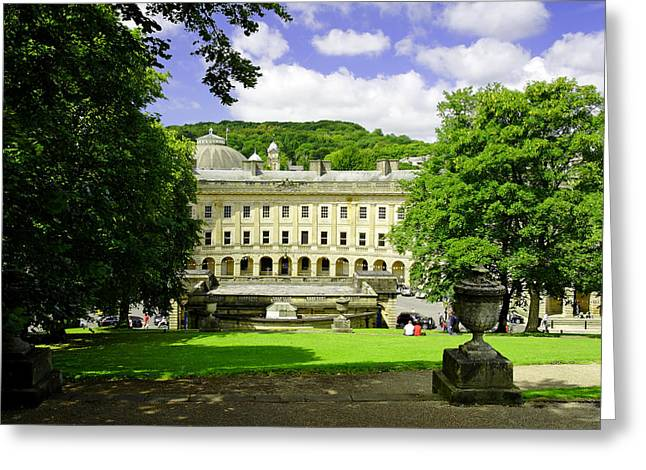 Hills Greeting Cards - The Crescent - Buxton Greeting Card by Rod Johnson
