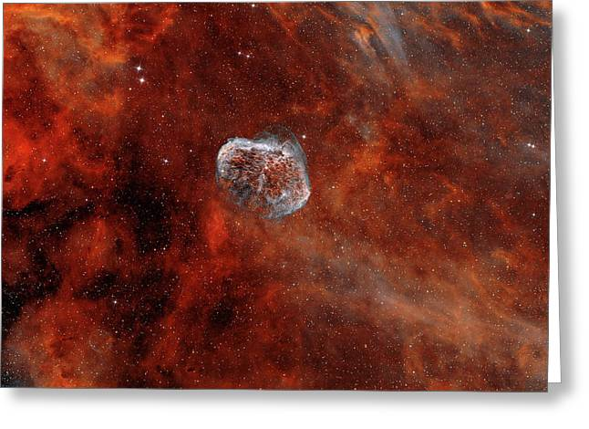 The Crescent Nebula With Soap-bubble Greeting Card by Rolf Geissinger