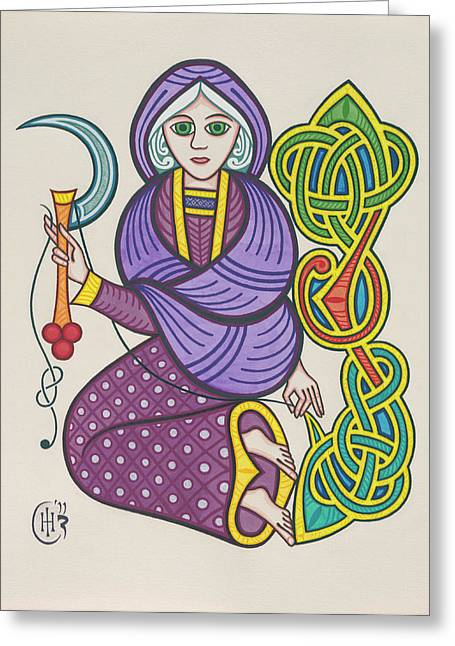 Knotwork Greeting Cards - The Crone Greeting Card by Ian Herriott