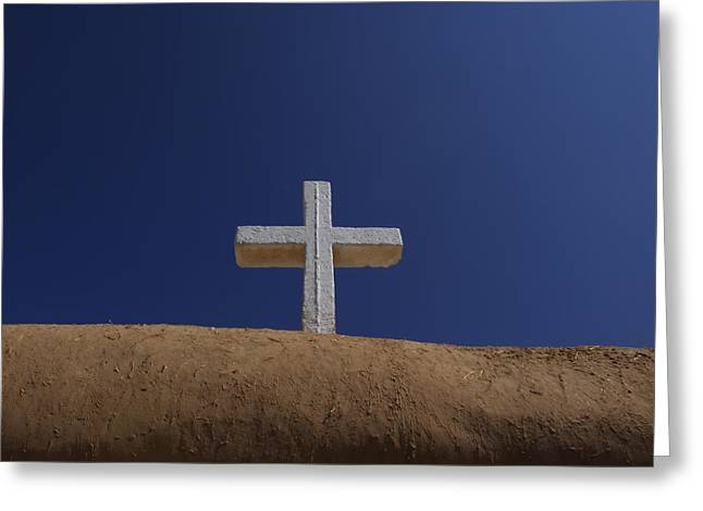 Art Of Building Greeting Cards - The Cross Above Saint Francis Catholic Greeting Card by Raul Touzon