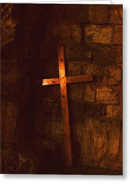 The Cross Greeting Card by Amr Miqdadi