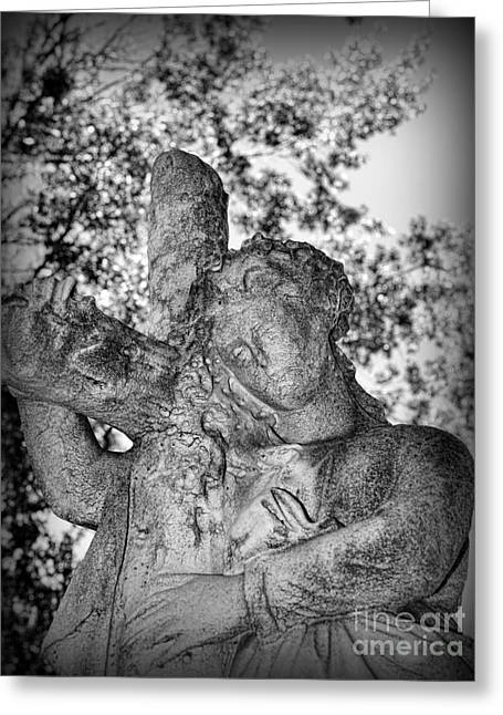 Dismal Greeting Cards - The Cross I Bear Greeting Card by Paul Ward