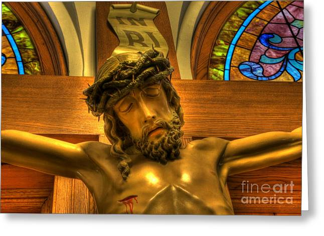 Vector Image Photographs Greeting Cards - The Crucifiction of Jesus of Nazareth Greeting Card by Lee Dos Santos