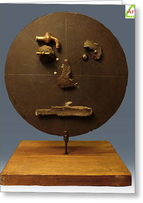 Cry Sculptures Greeting Cards - The cry of the iron Greeting Card by Enrico Norbiato