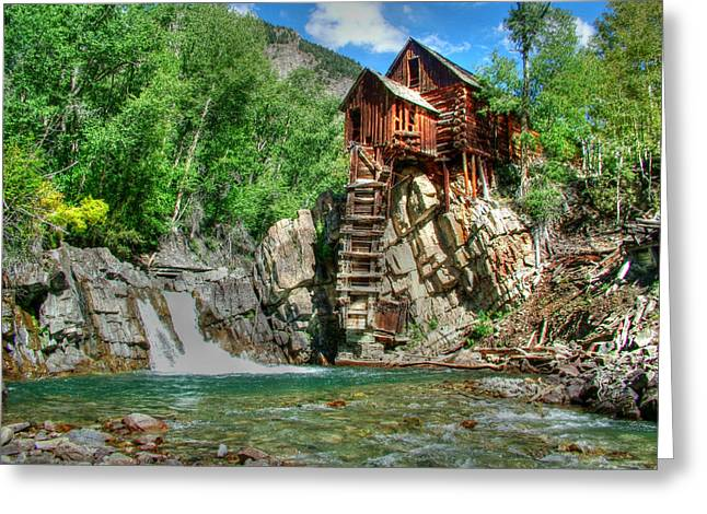 Crystal Mill Greeting Cards - The Crystal Mill 1 Greeting Card by Ken Smith