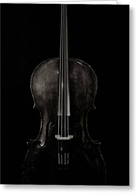 Cello Greeting Cards - The Curve of Her - Two Greeting Card by Sam Hymas