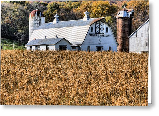 Dairy Barn Greeting Cards - The Dairy  Greeting Card by JC Findley