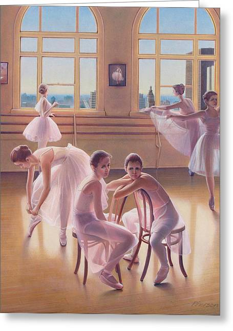 Ballerina Pastels Greeting Cards - The Dance Class Greeting Card by Patrick Anthony Pierson