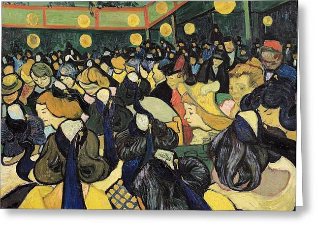 Arles Greeting Cards - The Dance Hall at Arles Greeting Card by Vincent Van Gogh