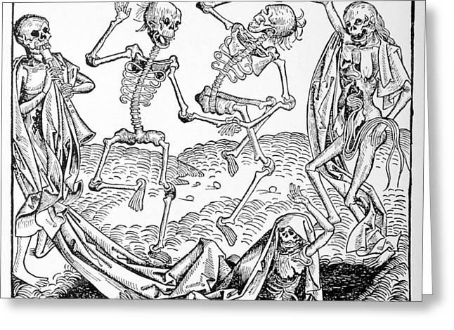 Die Karikatur Und Satire In Der Medizin Greeting Cards - The Dance Of Death, Allegorical Artwork Greeting Card by
