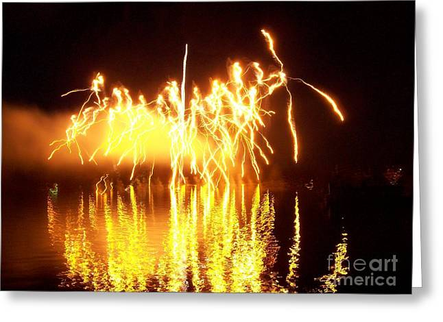 The Dance Of Fire And Water Greeting Card by Sasha Marlay