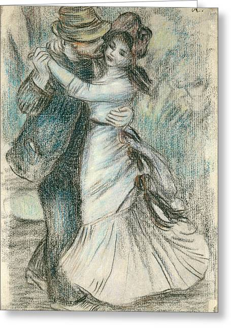 Valentines Day Pastels Greeting Cards - The Dance Greeting Card by Pierre Auguste Renoir