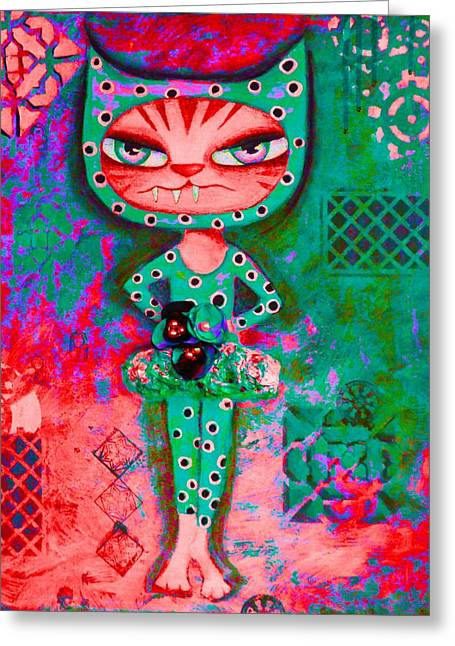 Kitten Prints Greeting Cards - The Dancer Greeting Card by Angie Phillips