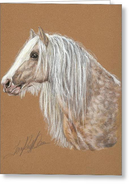 Stallion Pastels Greeting Cards - The Dappled Gypsy Romeo Greeting Card by Terry Kirkland Cook
