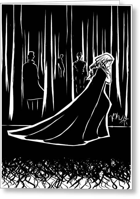 Inner Self Greeting Cards - the Dark Forest Greeting Card by Rachel H White
