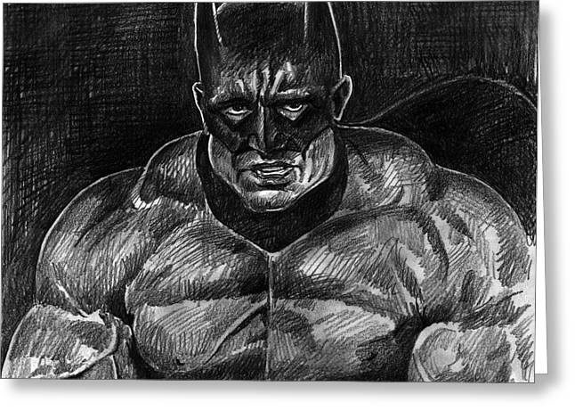 Knighting Drawings Greeting Cards - The Dark Knight - Batman Greeting Card by David Lloyd Glover