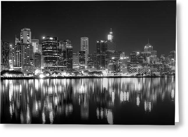 Balmain Greeting Cards - The Dark side of Town Greeting Card by Mark Lucey