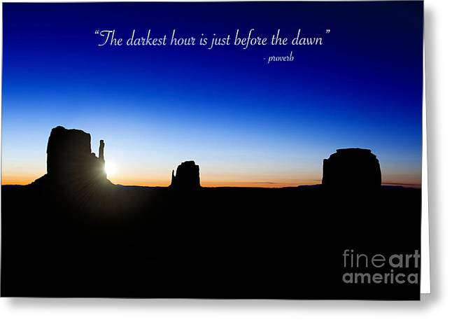 Native Stone Greeting Cards - The darkest hour..... Greeting Card by Jane Rix