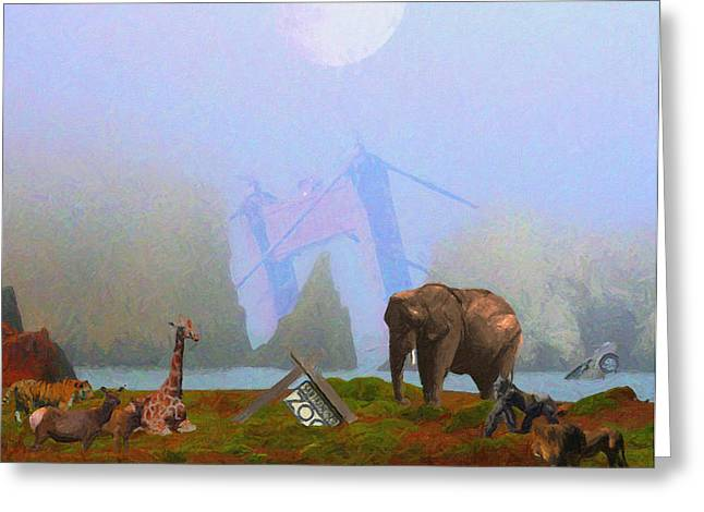 The Day After Armageddon At The San Francisco Zoo Greeting Card by Wingsdomain Art and Photography