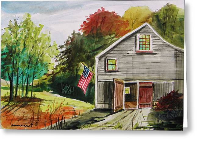 Barn Door Drawings Greeting Cards - The Day After Greeting Card by John  Williams