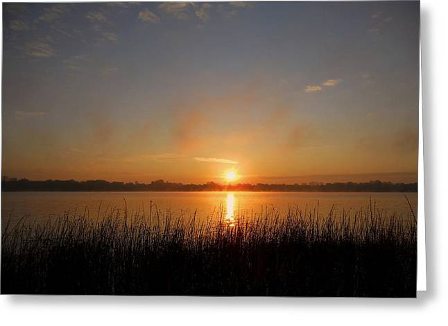Spiegelung Greeting Cards - The Day Begins ... Greeting Card by Juergen Weiss