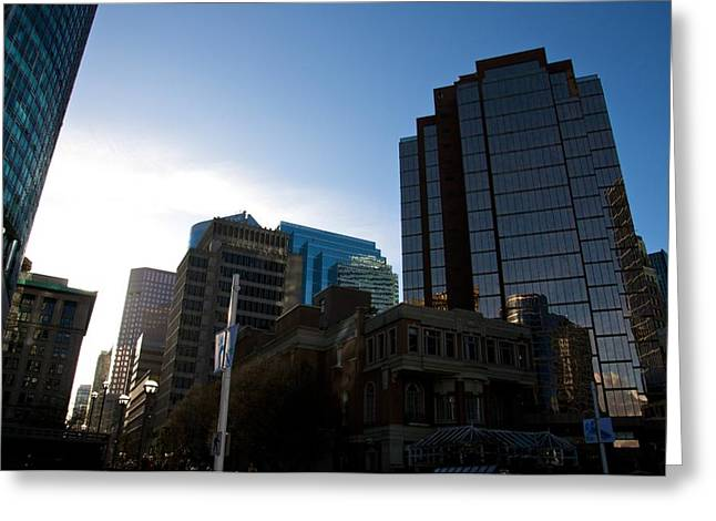 Jeremy Greeting Cards - The Day Begins Vancouver Canada Greeting Card by JM Photography