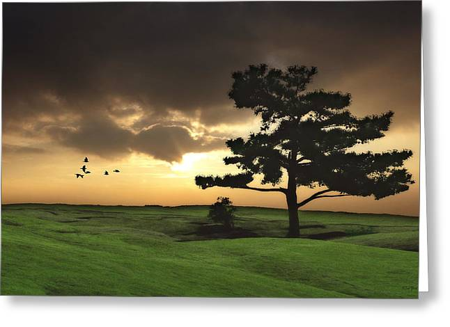 Landscape Posters Greeting Cards - The Day Is Done Greeting Card by Tom York Images