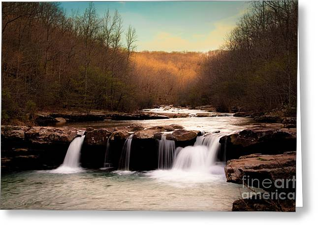 Tamyra Ayles Greeting Cards - Days End on Kings River Greeting Card by Tamyra Ayles