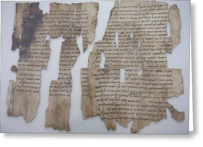 The Dead Sea Scrolls Greeting Card by Taylor S. Kennedy