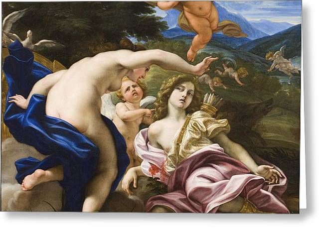 The Death of Adonis Greeting Card by Il Baciccio