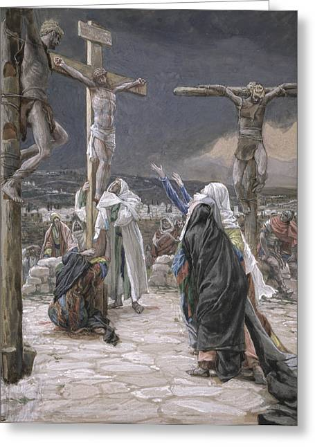 Spiritual Paintings Greeting Cards - The Death of Jesus Greeting Card by Tissot