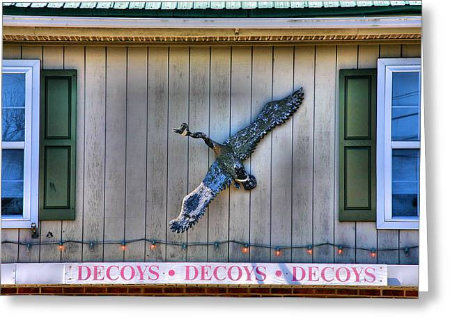 Duck Framed Prints Greeting Cards - The Decoy Shop Greeting Card by Steven Ainsworth