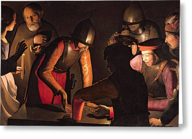 The Denial of Saint Peter Greeting Card by Georges De La Tour
