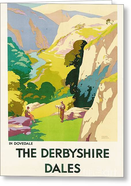 1930s Greeting Cards - The Derbyshire Dales Greeting Card by Frank Sherwin