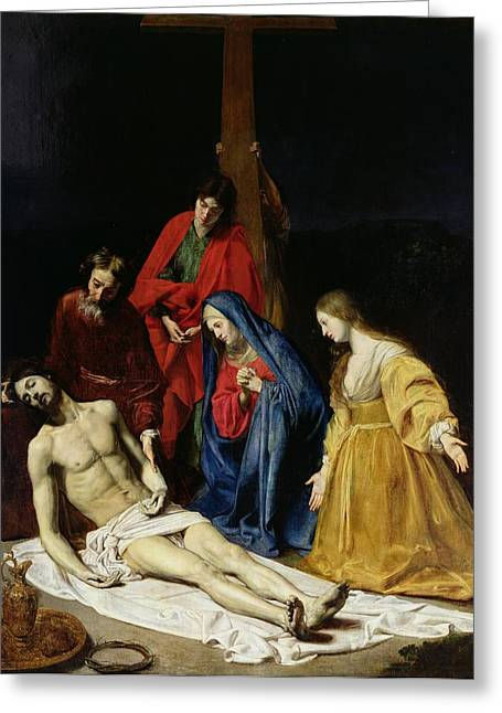 Sorrow Photographs Greeting Cards - The Descent from the Cross Greeting Card by Nicolas Tournier