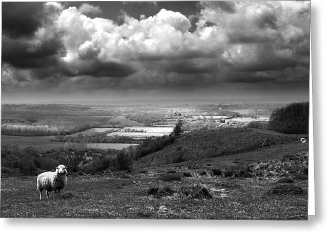 White Sheep Greeting Cards - The Devils Kneading Trough Greeting Card by Ian Hufton