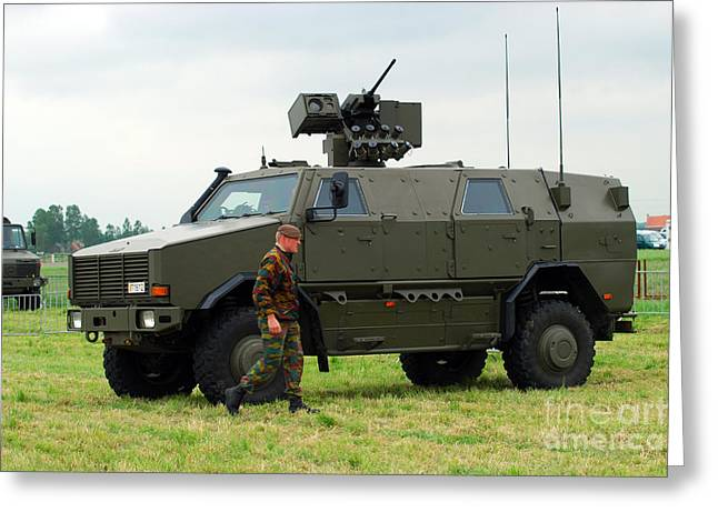 The Dingo Ii In Use By The Belgian Army Greeting Card by Luc De Jaeger