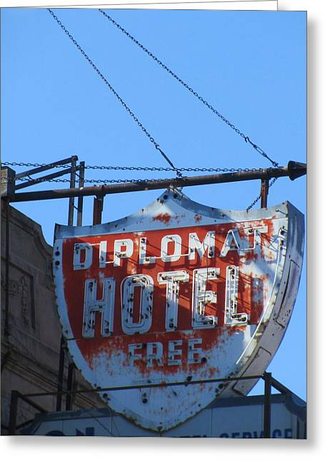 The Diplomat Hotel Chicago Greeting Card by Todd Sherlock
