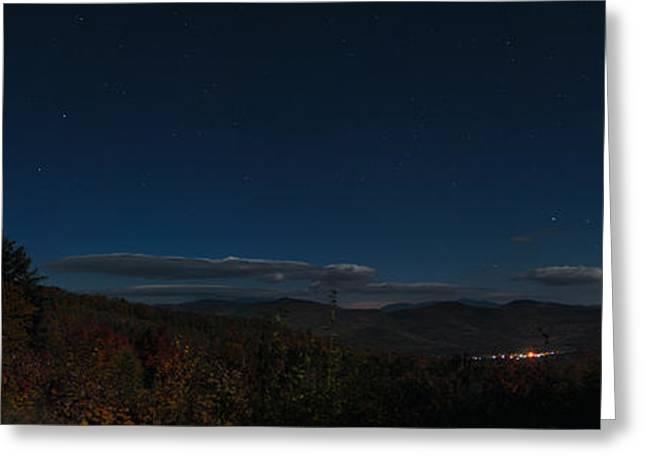Little Dipper Greeting Cards - The Dipper over Bear Notch Road Greeting Card by Geoffrey Bolte