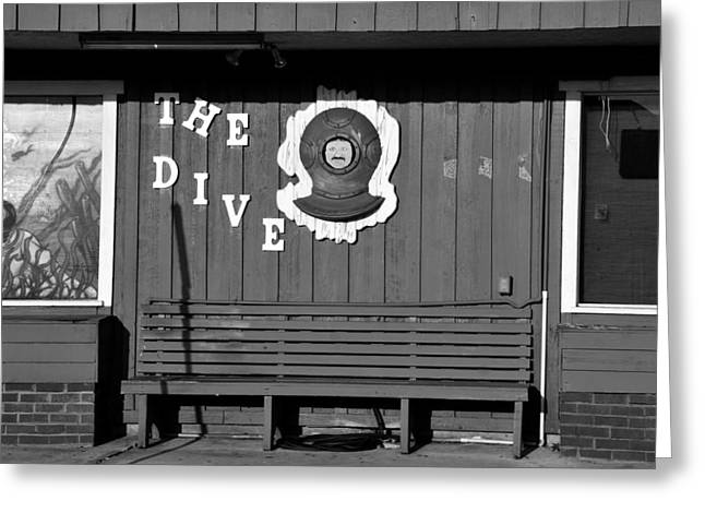 Diving Helmet Greeting Cards - The Dive Bar Greeting Card by David Lee Thompson